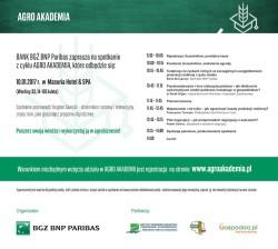 Zaproszenie na Agro Akademię