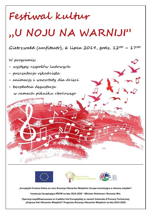 "Zapraszamy na Festiwal kultur ""U noju na Warniji"""