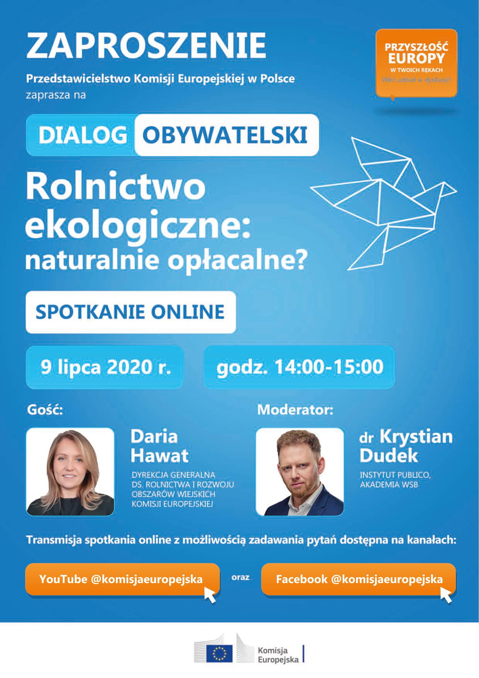 Rolnictwo ekologiczne – Dialog Obywatelski online 9 lipca