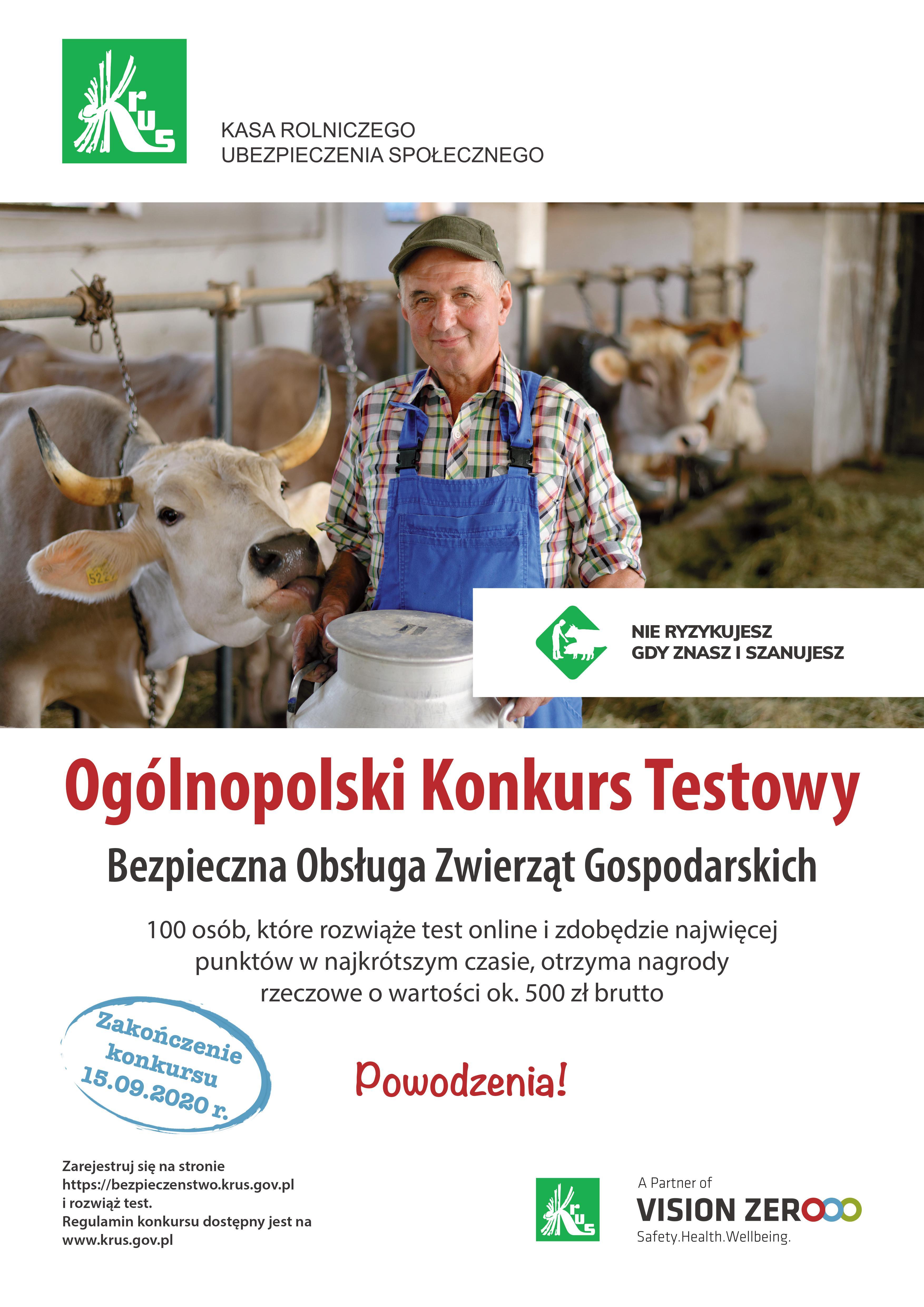 Ogólnopolski Konkurs Testowy Bezpieczna Obsługa Zwierząt Gospodarskich